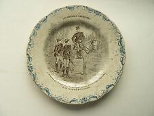 Assiette Ancienne  Faience Terre de Fer H. & Cie  Manoeuvres   Cavalerie