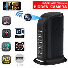 HD 1080P Wireless WIFI Hidden Camera Socket 5 USB Charger Video Cam Recorder