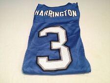 YOUTH JOEY HARRINGTON #3 RETRO DETROIT LIONS BLUE REEBOK JERSEY NWT