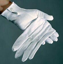 Baumwoll-Handschuhe 1 Paar Damen oder Herren weiß Druckknopf Trikothandschuhe
