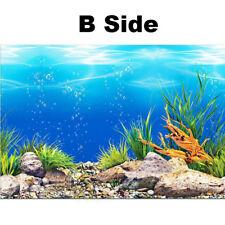 PVC Double Sided Aquarium Background Poster Decoration Fish Tank Ocean Picture