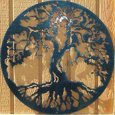 Tree of Life Metal Wall Art Home Decor Chameleon Teal