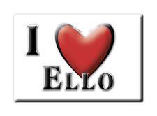 CALAMITA LOMBARDIA ITALIA FRIDGE MAGNET MAGNETE SOUVENIR I LOVE ELLO (LC)--