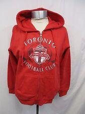Toronto FC Football Club Full Zip Red Hooded Sweatshirt  MLS Size Large