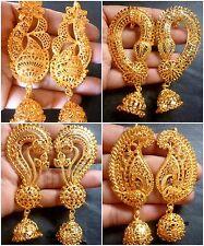 Indian 22K Gold Plated Bridal  Full Ear Earrings Bridal Variation Jhumka Set