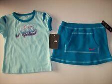 Nike Shirt Skort Skooter 2pc Set Turquoise Teal 12 24 Mos Swoosh