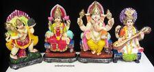 HINDU  DEITY  4 DIFFERENT GOD & GODDESS MURTI IN  COLOUR STATUE  IN RESINS