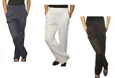 Pantalones de lino 100% lino Elástico elástica Pretina - Muchos Colores (S1)