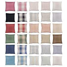 "Assorted Cushion Cover Check Pattern Plain Tartan Plaid Scatter 45 x 45cm / 17"""