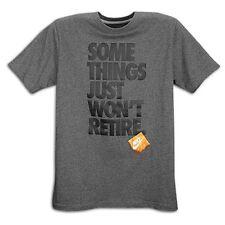 "Nike ""Some Things Won't Retire"" T-Shirt Charcoal/Black Men's XL 2XL BNWT!"