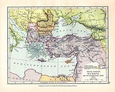 VICTORIANO MAPA ~ SUD ORIENTAL EUROPA Y C 1892