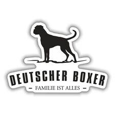 Wetterfester Aufkleber Deutscher Boxer Hunde Dogs Rasse größe 15 oder 59 cm