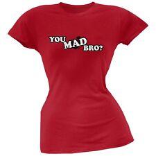 You Mad Bro? Red Soft Juniors T-Shirt