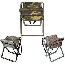 Deluxe Camo Folding Camp Stool W/Pouch - Woodland, ACU Digital, Woodland Digital