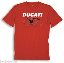 DUCATI Gráfico 899 1199 1299 Panigale Manga Corta Camiseta T-Shirt Rojo NUEVO