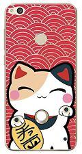 Huawei P8 Lite 2017 - Coque Fantaisie Transparente pour P8 Lite 2017 (Lucky cat)