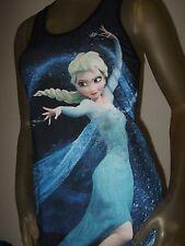 Nwt Juniors Disney Frozen Elsa Sublimation Snow Queen Racer back Tank Top Shirt