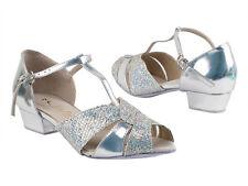 Women's West Coast Swing Salsa Ballroom Dance Shoes low Heel 1 Very Fine 6006FT
