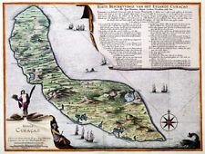 Reproduction carte ancienne - Ile de Curaçao vers 1680 (CUracao Island)