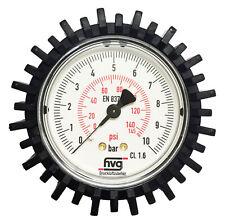 Manometer Reifenfüller 10 bar 145 psi G1/4 63mm WIKA mit / ohne Gummischutzkappe