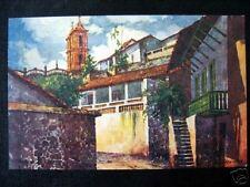 Mexico~1942 TAXCO - No. 8~ Artist Postcard