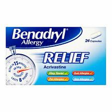 Benadryl Allergy Relief Hayfever Cat Dog Dust Allergy Capsules 24 - Multibuy