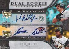 Josh Willingham Ronny Paulino 2006 Exquisite Collection Rookie Auto graph #/55