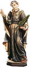 STATUA San Liborio con Palma in Legno  . St.Liborio with Palm tree wooden statue