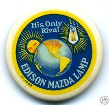 MAZDA LAMP PIN BACK MAGNET
