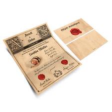 Geburtskarten Wickelfalz Babykarte Grußkarte Geburt Siegelbrief Siegel Aufkleber