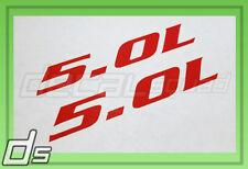 2x 5.0L Decal Cowl Hood Fender Door Tailgate Sticker Emblem Overlay Badge Engine