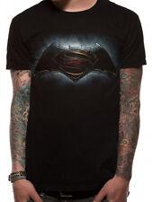 Official Batman Vs Superman Classic Logos Print Unisex Short Sleeve Crew TShirt