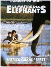 LE MAITRE DES ELEPHANTS Affiche Cinéma / Movie Poster JACQUES DUTRONC 80x60