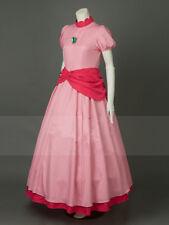 Super Mario Bros Princess Peach Pink Cosplay Costume & Crown:Free shipping