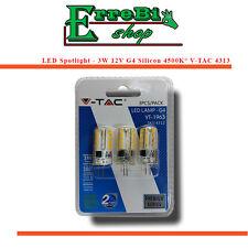 SPOT AMPOULE LED G4 SMD 12V 3W 4500K 200lm SILICONE LAMPE SPOTLIGHT V-TAC 3PCS