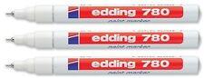 3 x Edding 780 Paint Marker Pen Extra Fine Low Odour - 8 Colours Available