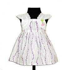 Nuevo Bebé Niña Flor Vestido De Algodón en lila rosa 3-6 6-9 9-12 12-18 18-24