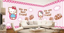 3D Girl Cats Best Friend 5456 Wall Paper Wall Print Decal Wall AJ WALLPAPER CA