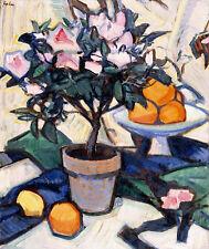 "SAMUEL JOHN PEPLOE ""Pink Azalea And Oranges"" print choose SIZE, from 55cm up"