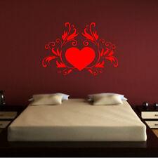Stickers mural Coeur et Ornements - Amour - Choix taille et couleur