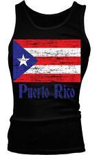 Puerto Rico Flag Text Puerto Rican Pride Bandera Boricua Boy Beater Tank Top