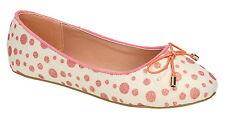 Spot On h2428 para niñas, color blanco / rojos Sin Cordones Textil Informal