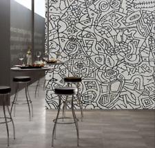 Papel Pintado Mural De Vellón Graffiti Blanco Negro 24 Paisaje Fondo De Pantalla