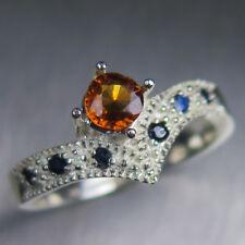 Natural Cinnamon Orange Hessonite Garnet 925 silver / 14k 18k Gold Platinum ring