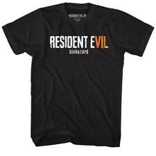 Resident Evil RE7 LOGO BIO HAZARD T-Shirt in Sizes SM - 5XL WITH NECK TAG BLACK