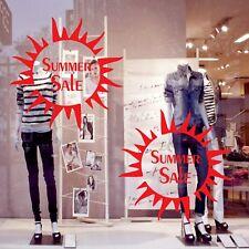 2 Summer Sale SUN Shop Window Sign Vinyl Stickers Retail Display Decals 40 cm v9