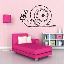 Sticker mural Horloge géante ESCARGOT avec mécanisme aiguilles