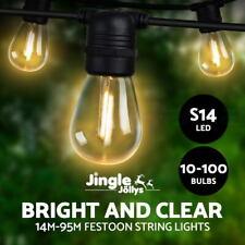 Jingle Jollys 10-100PCS LED Festoon String Lights Kit Waterproof Wedding Outdoor