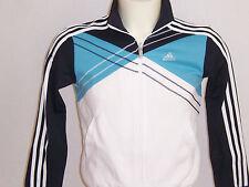 Sweat zippé enfant Adidas neuf T-top taille 12 ans ou 16 ans blanc  bleu  noir