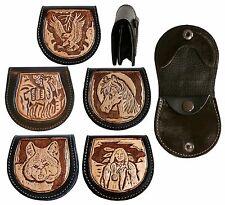 Cowboy Leder Gürteltasche, Adler Wolf Indianer Pferd Lama Alpaka,Biker Geldbörse